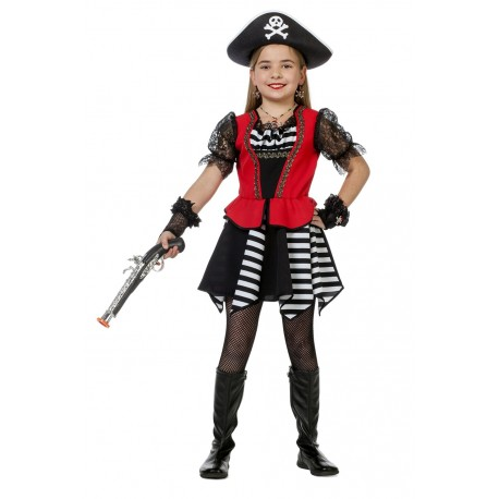 pirate blanc/noir fille