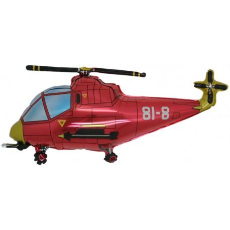 Ballon hélicoptère rouge