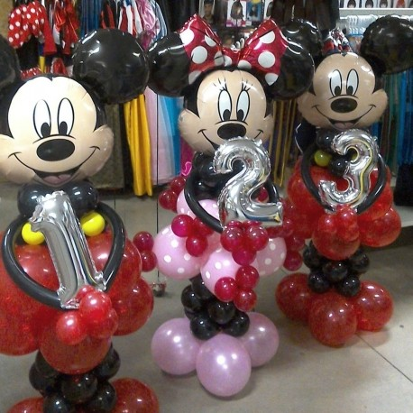 colonne ballons mickey,minnie