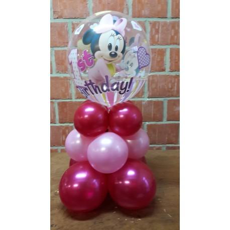 Ballon pied rose naissance