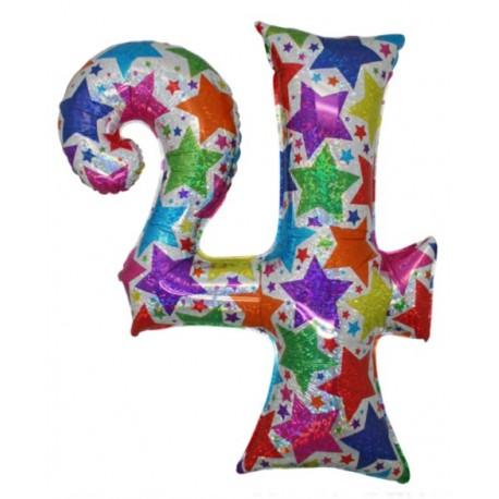 Ballon chiffre 4