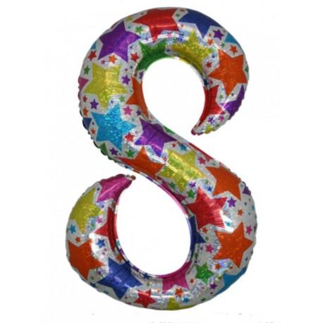 Ballon chiffre 8