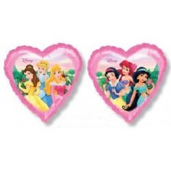 Ballon coeur princesse disney