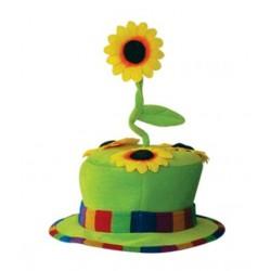 Chapeau fleur vert