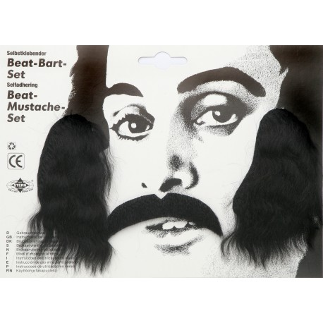 Moustache et favori beat