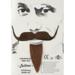 Moustache et favori bohème
