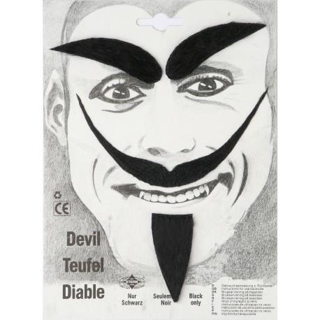Moustache diable