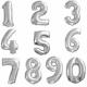Ballon  chiffre - Argent- 100cm
