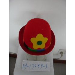 Chapeau boule de clown rouge