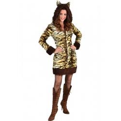 Robe tigresse capuche