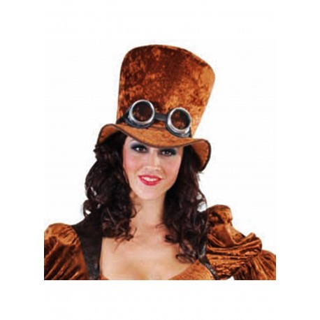 Chapeau steampunk brun