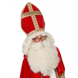 Perruque et barbe saint nicolas ecru