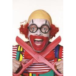 Clown chauve rouge