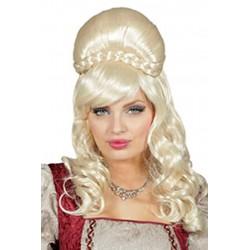 Perruque blonde reine