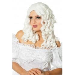 Perruque blanche bouclée