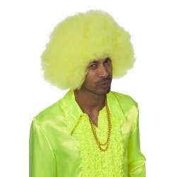 Perruque super afro jaune
