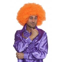 Perruque super afro orange