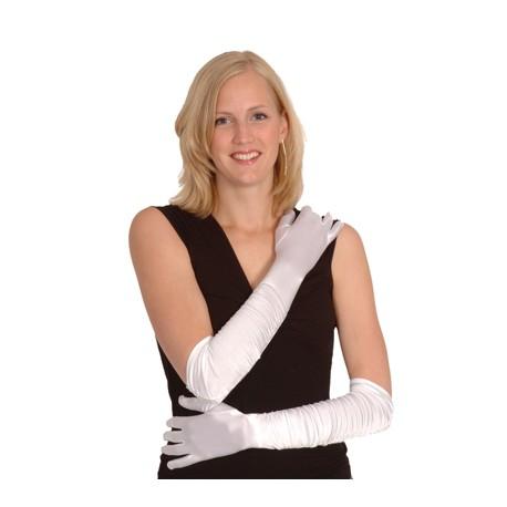Long gant blanc