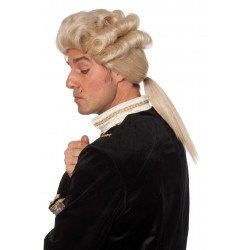 Perruque marquis de luxe blond