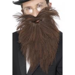 Barbe moustache historique brune