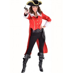 Pirate veste queue de pie rouge