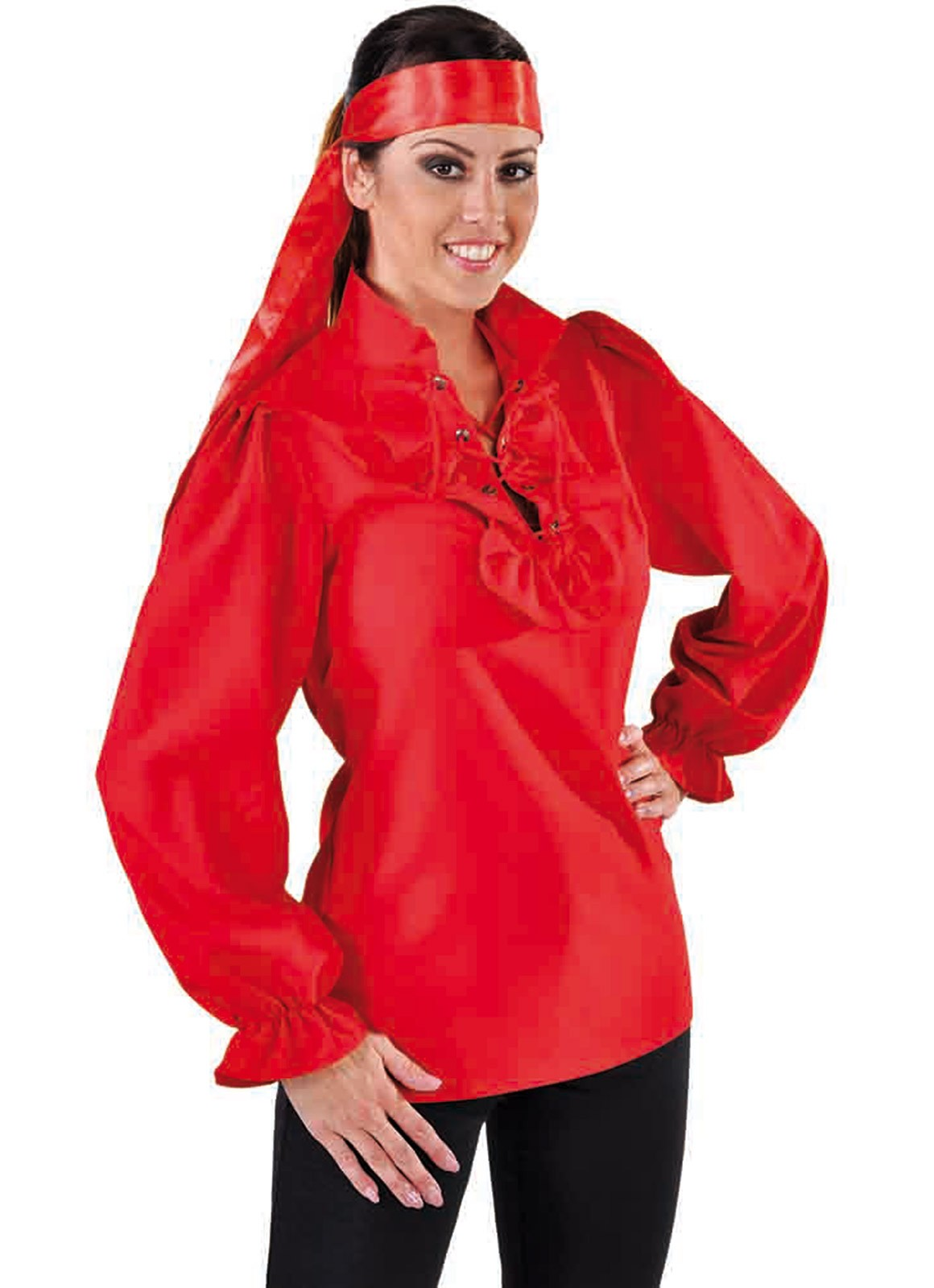Xdcboe Le Cotillon Chemise Rouge Femme Pirate yvn0wO8Nm