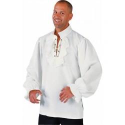 chemise de pirate blanc cassé
