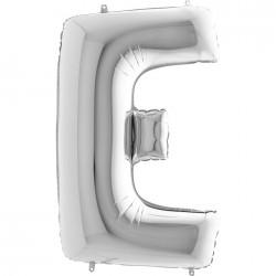 Lettre aluminium 102 cm E