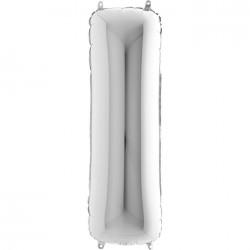 Lettre aluminium 102 cm I