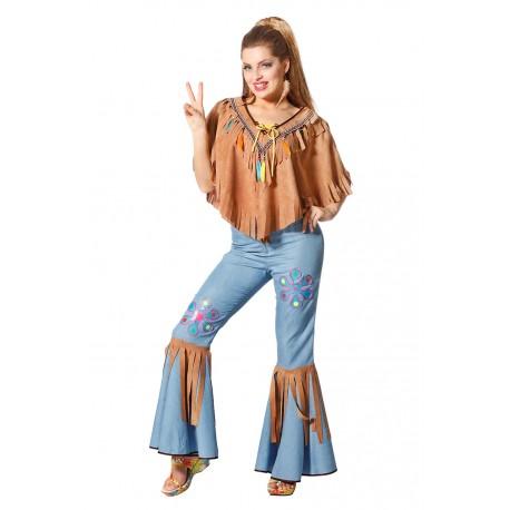 Pantalon Costume Hippie Rose Femme wOkZiTPuX