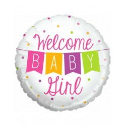 Ballon welcome baby girl
