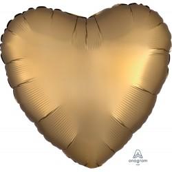Ballon coeur décoratif or