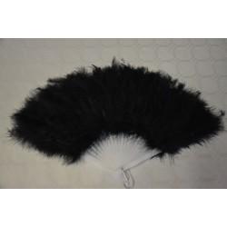 Eventail plume noir