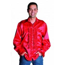 Chemise disco rouge