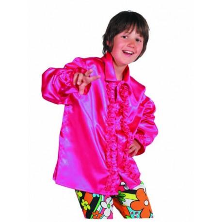 Chemise disco fuschia enfant
