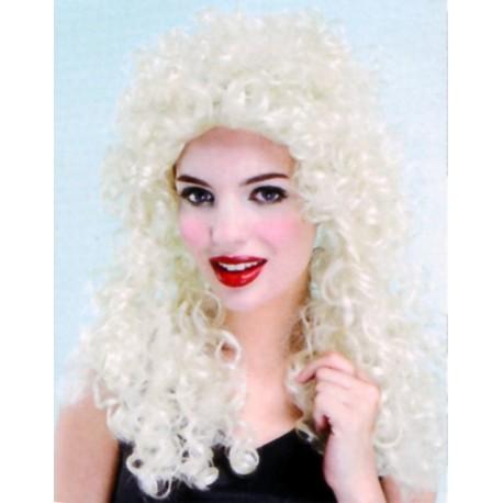 Perruque blonde crollée