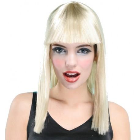 Perruque blonde avec franche