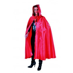 Cape satin luxe rouge