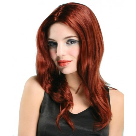 Perruque rousse lisse