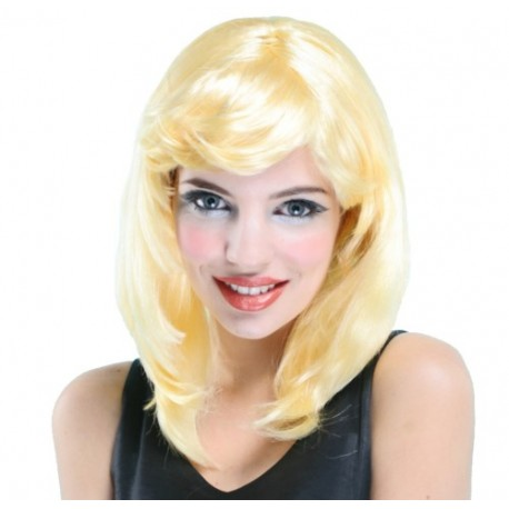 Perruque blonde platine