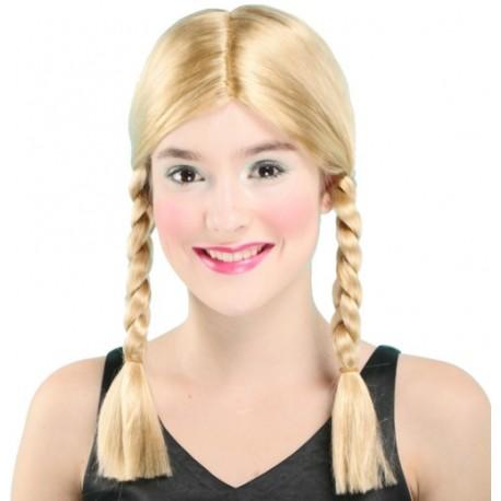 Perruque 2 tresses blondes