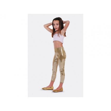 Collants paillette doré