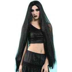 Perruque extra longue noir